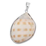 Pendentif de collier sans chaîne avec bijoux de style coquille