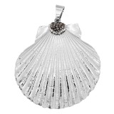 Pendant of necklace without chain with shell and Rhinestones fashion style jewelry