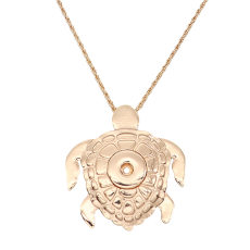 turtle pendant gold Necklace 70cm chain KC1315 fit 20MM chunks snaps jewelry