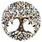 20MM  design Tree Painted enamel metal C5925 print  charms snaps jewelry