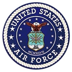 Diseño de 20 mm Logotipo de la fuerza aérea Encantos de impresión de metal esmaltado pintado C5912 Azul