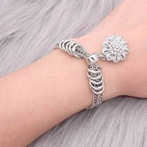1 buttons  snap sliver bracelet fit snaps jewelry KC0517