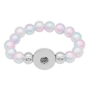 bracelets de style junior de perles colorées Fit 18 / 20mm s'enclenche chunks CH3021