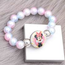 colorful beads kids junior style bracelets Fit 18/20mm snaps chunks CH3021