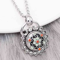 Christmas charms 12MM design Flowers metal snap with Red and green rhinestone KS7118-S snaps jewelry