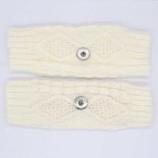 Strickhandschuhe passen auf 20mm Druckknopf KB9796 Weiß