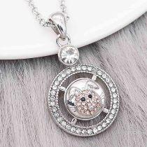 Los encantos de metal de conejo redondo de diseño 12MM se rompen con diamantes de imitación de color naranja KS7109-S broches de joyería
