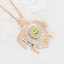 20MM Gold Snap Smile Gelb Emaille KC8087 Charms Snaps Schmuck