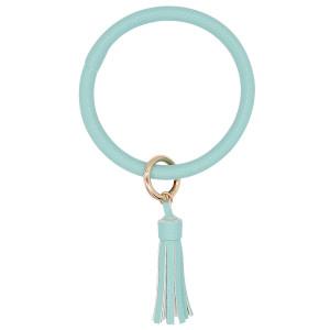 Голубой цвет кожи Большое кольцо браслет Брелок Брелок кисточкой браслет