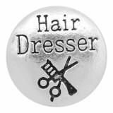 20MM Haircut Snap Charms Plaqué Argent KC8094 Snaps Bijoux