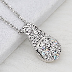 12MM design Round metal silver plated snap with colorful rhinestone KS7138-S charms snaps jewelry