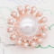 20MM design snap rose-gold plated white pearls charms KC8095 snaps jewelry