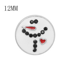 12MM Christmas metal snap with enamel KS7092-S charms snaps jewelry