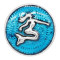 20MM Mermaid snap silver Plated with blue enamel charms KC9232 snaps jewerly