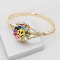 Charms 20MM Gold Snap Smile Emaille KC8098 Charms Multicolor