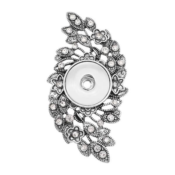 colgante de astilla a presión Con diamantes de imitación blancos en forma 20MM broches estilo joyería KC0475