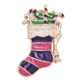 20MM Christmas snap gold Plated with enamel KC9249 charms snaps jewelry