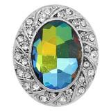 20MM design snap plaqué argent avec strass KC9228 charms s'enclenche les bijoux