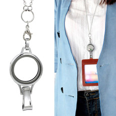 30MM Stainless steel  floating charm locket ( Identity Card holder) screw base system without Cover Cap