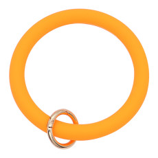 orange Bracelet de gel de silice Big ring ring Key Ring