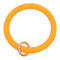 orange Silica gel Big ring bangle Key Ring Key Chain bracelet
