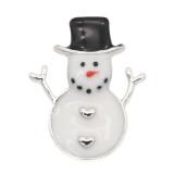 Navidad 20MM diseño muñeco de nieve esmalte KC9255 broches joyería