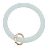 light blue shiny Silica gel Big ring bangle Key Ring Key Chain bracelet
