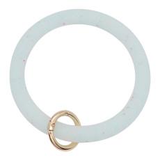 светло-голубой блестящий силикагель Большой браслет-кольцо Брелок Брелок браслет