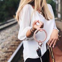 белый блестящий силикагель Большой браслет-брелок Брелок Брелок браслет