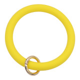 yellow Silica gel Big ring bangle Key Ring Key Chain bracelet