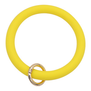 yellow Silica gel Big ring bangle Key Ring Key Chain bracelet