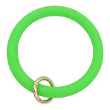 green Silica gel Big ring bangle Key Ring Key Chain bracelet