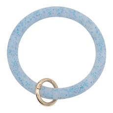 синий блестящий силикагель Большой браслет-кольцо Брелок Брелок браслет