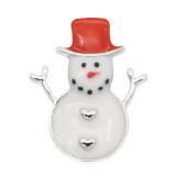 Navidad 20MM diseño muñeco de nieve esmalte KC9254 broches joyería