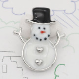 Christmas 20MM design Snowman enamel KC9255 snaps jewelry