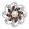 20MM flowers snap silver Plated with rhinestone And pearls KC9258 charms snaps jewelry