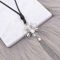12MM Diseño navideño de metal chapado en plata con piedra blanca natural KS7140-S encantos encajes joyería