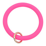 rose Silica gel Big ring bangle Key Ring Key Chain bracelet