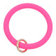 rose Silica gel Big ring bangle Key Ring Key Chain bracelet