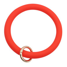 красный силикагель Большой браслет-кольцо Брелок Брелок браслет