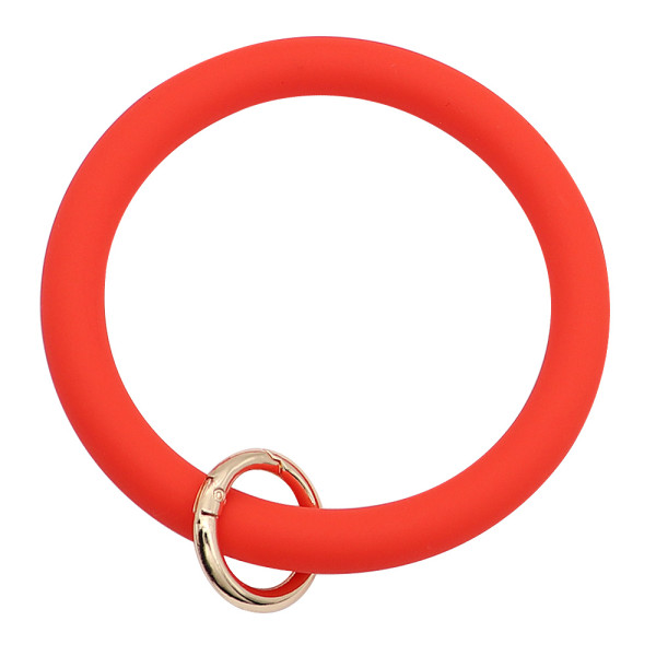 red Silica gel Big ring bangle Key Ring Key Chain bracelet