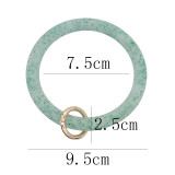 green shiny Silica gel Big ring bangle Key Ring Key Chain bracelet