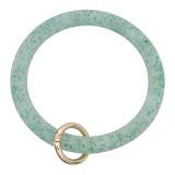 Зеленый блестящий Силикагель Большой браслет кольцо Брелок Брелок браслет