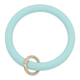 light blue Silica gel Big ring bangle Key Ring Key Chain bracelet