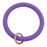 purple Silica gel Big ring bangle Key Ring Key Chain bracelet