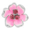 20MM flowers snap silver Plated with Pink rhinestone enamel KC8101 charms snaps jewelry