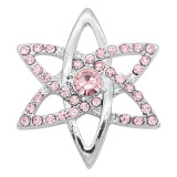20MM snap silver Plated with Pink rhinestone KC8103 charms snaps jewelry