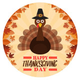 Thanksgiving Day 20MM turkeyt Painted enamel metal C5931 print Orange
