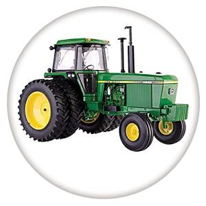 Tracteur 20MM C5932 en métal peint émaillé, impression, boutons-pression