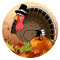 Thanksgiving Day 20MM turkeyt Métal en émail peint, impression C5930, brun